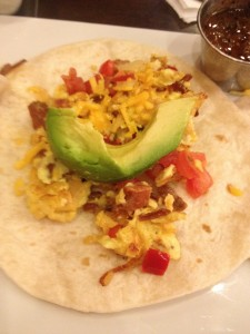 over easy breakfast taco