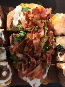 Burrata, Arugula, Bacon and Tomato