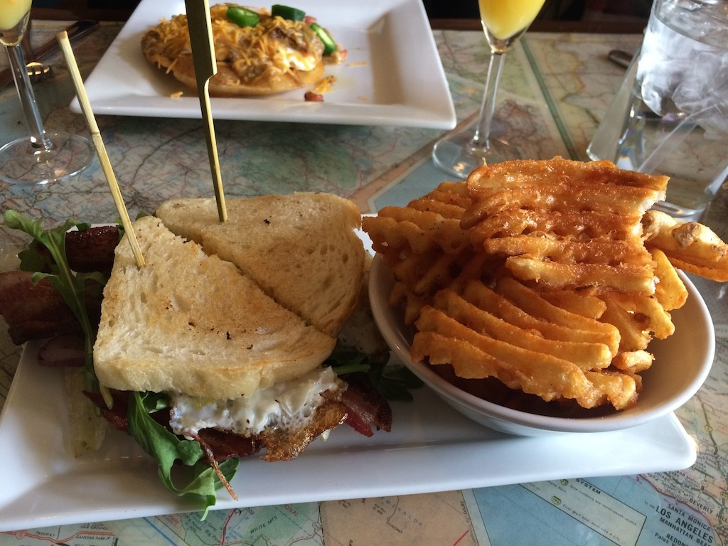 Breakfast BLTA and Waffle Fries