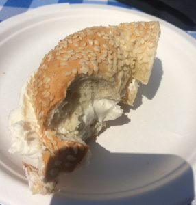 Sesame Seed Bagel with Plain Cream Cheese